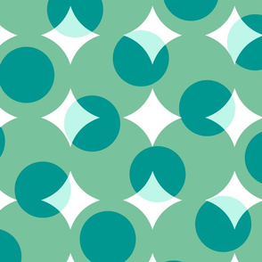 enormous halftone dots in surfer green