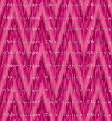 Berry Pink Chevron