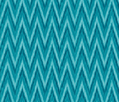 Island Blue Chevron fabric by bohemiangypsyjane on Spoonflower - custom fabric