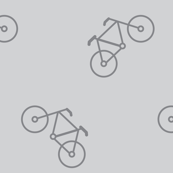 grey bicycles