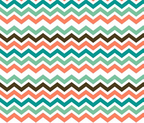 SURFING CHEVRON fabric by bluevelvet on Spoonflower - custom fabric