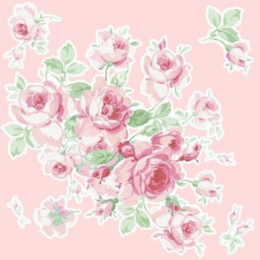 Lake Maria Summer Roses on peony pink