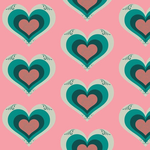 Layers of My Heart in Pink