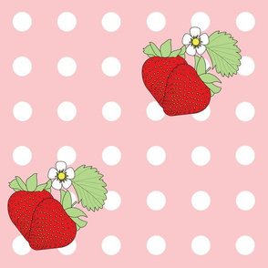 Strawberry Polka Dots