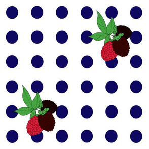 Blackberry Polka Dots