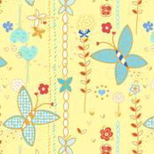 Sunny butterfly garden