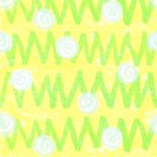 Crayon dandelion field