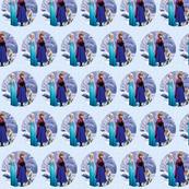 Frozen elsa anna & olaf circle