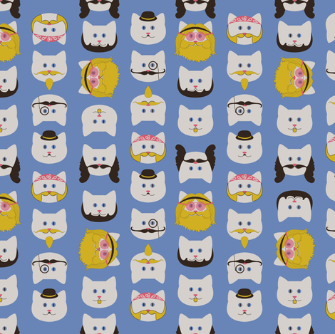Catstache fabric by mandasisco on Spoonflower - custom fabric
