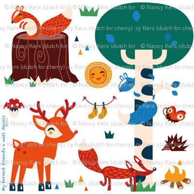 My forrest friends - wall decal