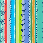 Embroidered soft stripes