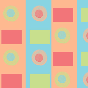 Swing Off-Kilter Circles and Squares on Stripes