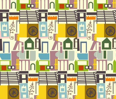 Village fabric by boris_thumbkin on Spoonflower - custom fabric