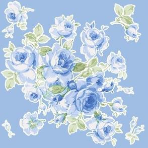 Lake Maria Summer Roses in dark blueberry blue