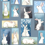 Bunnies on Silver