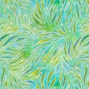 Palm Fronds in Watercolor