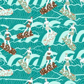 floral surfers