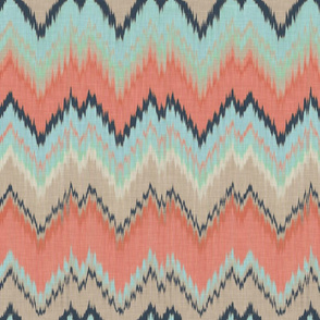 Custom Ikat Chevron
