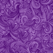 Engraved Swirls 8 Purple