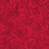Engraved Swirls 11 Red