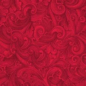 Engraved Swirls 11 Red