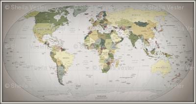World map, large