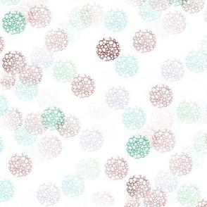 Aqua Peony Dots