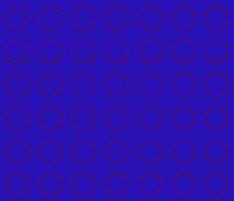 Berry Squares Diamond on Blue