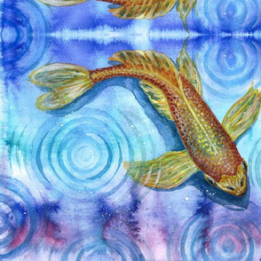 Watercolor Koi 1