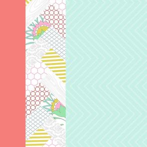 Floral Chevron Quilt Panel