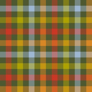 autumn gingham - forest
