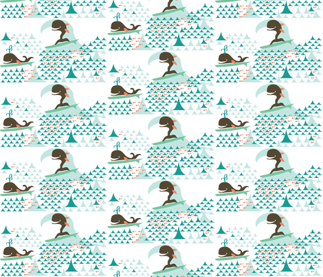 Whale of a Surf_retro fabric by colour_angel on Spoonflower - custom fabric