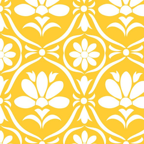 Sunglow Flower Damask