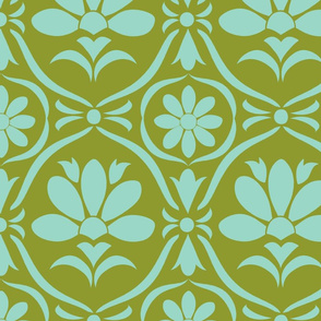 Wasabi Flower Damask