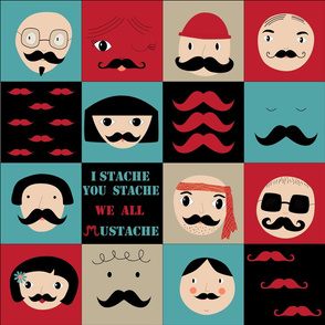 We all mustache