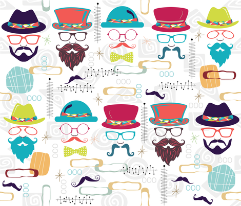 Dudes with Beards fabric by deeniespoonflower on Spoonflower - custom fabric