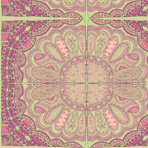Zentangle Coloring Flower Sage