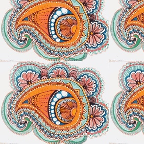 Toned down paisley