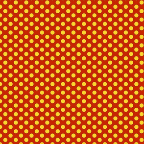 yellow dots on red