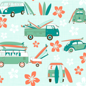Surf fabric wallpaper gift wrap spoonflower for Kids outdoor fabric