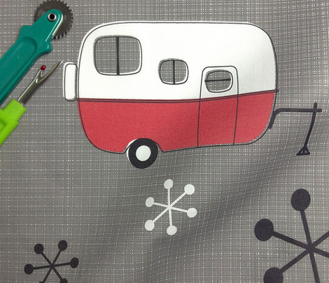 Julie's Campers Red on Charcoal