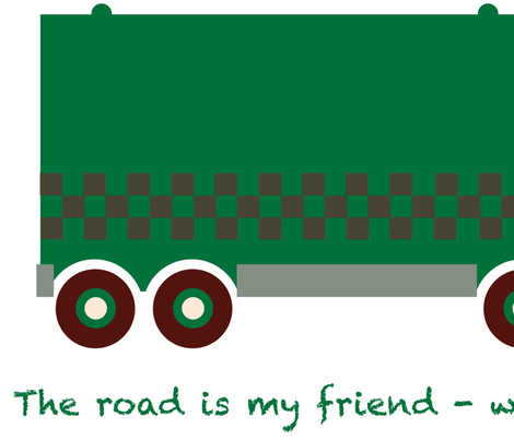 Trucks wall decals fabric by verycherry on Spoonflower - custom fabric