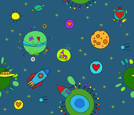 cosmic_voyage fabric by rosemarie on Spoonflower - custom fabric