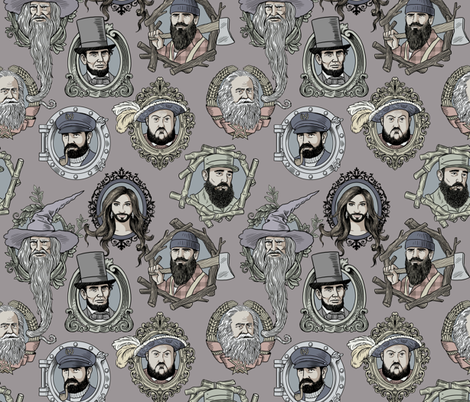 bearded fabric by in_wonderland on Spoonflower - custom fabric