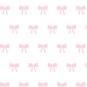 Bows pink on white