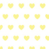 Hearts yellow on white