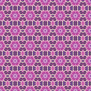 Purple Fractal Art Pattern