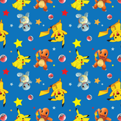 Pokemon and Stars Print