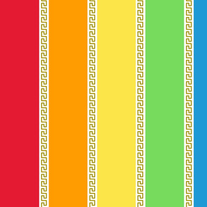 Grecian Rainbow (Dash) Large Vertical stripes