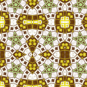 Green, Brown and Gold Abstract Design Pattern